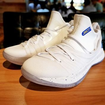 Under Armour UA Curry 5 White Basketball Shoe