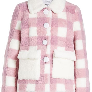 Lucy Pink Shearling Jacket - Saks Potts | WOMEN | US STYLEBOP.COM