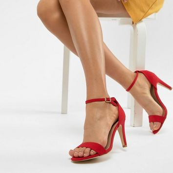 New Look Wide Fit 2-Part Heeled Sandal at asos.com