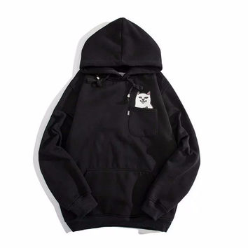 RIPNDIP Lord Nermal Black Pocket Hoodie