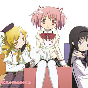 Mami, Madoka, Kyubey and Homura Wall Scroll