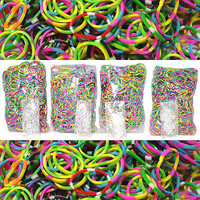 Vibrant TIE DYE Rubber Bands- 2400 pcs (4 bags of 600) for Loom Rainbow Bracelet