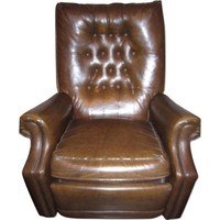 Stratolounger Leather Reclining Armchair