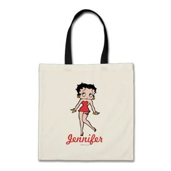 Classic Betty in Red Dress with Hands Out Pose Tote Bag