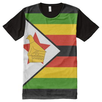ZIMBABWE (FLAG) All-Over-Print SHIRT