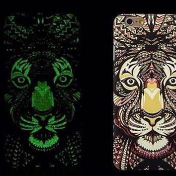 Tiger Luminous Light Up Case Cover for iPhone 5s / iPhone 6s / iPhone 6s Plus-170928