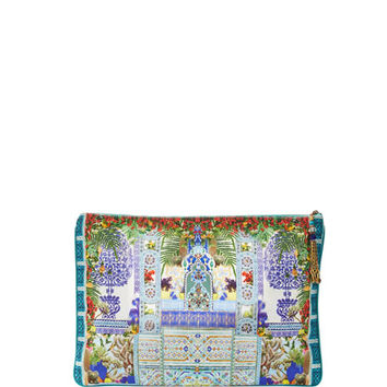 Camilla Large Embellished Clutch, My Majorelle