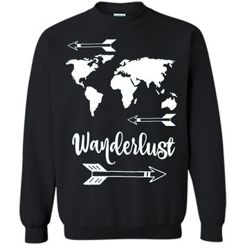 Wanderlust Shirt - Travel World Map Adventure T-Shirt