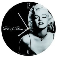 Vandor 70489 Marilyn Monroe Glass Wall Clock, Multicolored