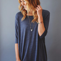 Destination Vail Knit Tunic Denim