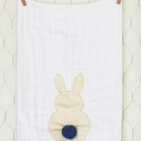 Teal Tail Bunny Burp Cloth
