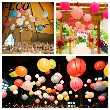 "15PCS 6""8""10"" Mix Sizes Handmade Chinese Paper Lantern Paper Lampion Ball Home Wedding&Birthday Party /Baby Shower Favors"