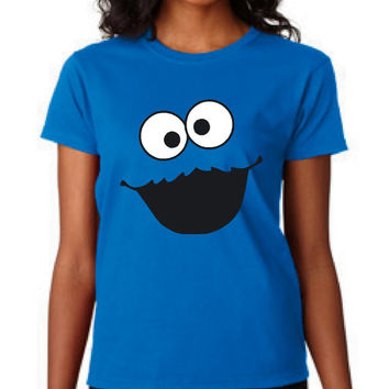 Fantastic Cookie Monster Face T Shirt Makes Fantastic gift Kids Ladies Mens Shirts Great Cookie Monster Shirt Christmas Gift Birthday Shirts