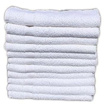 60 Pcs (5 DOZEN ) WHITE ECONOMY 15X25 HAND TOWEL 100% COTTON - 2.25 LB/DOZEN (60)