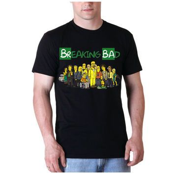 Breaking Bad Simpsons Tee Shirt black For Men and Women Unisex Size from savemeshirt