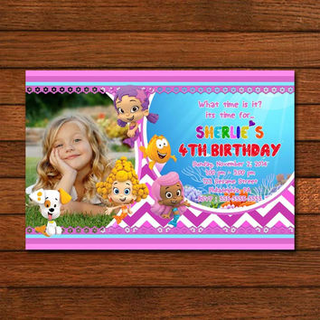 The Bubble Guppies New Girl Invitation