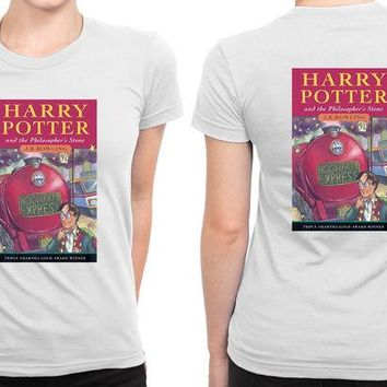 ONETOW Harry Potter And The Philosophers Stone Book Cover B 2 Sided Womens T Shirt