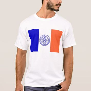 T Shirt with Flag of New York City USA