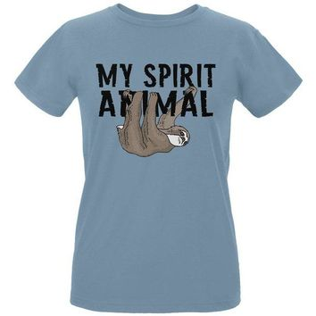 DCCKJY1 Sloth My Spirit Animal Womens Organic T Shirt