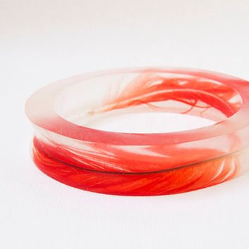 Resin bangle eco resin with Double African Grey by RosellaResin