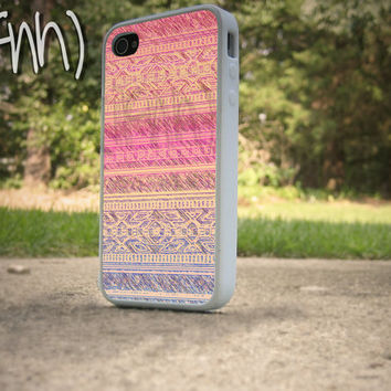 iPhone 4 or 4S Case Tribal Pattern iPhone case Red and Purple