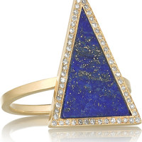 Jennifer Meyer | 18-karat gold, lapis lazuli and diamond ring | NET-A-PORTER.COM