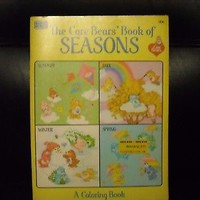 "NWT 1984 CARE BEARS ""THE CARE BEARS BOOK OF SEASONS"" COLORING BOOK 
