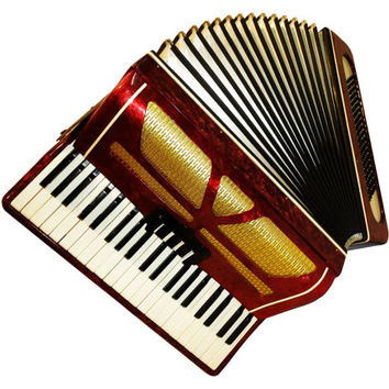 Russian Diamond, 120 Bass, 3 Registers, Case, Piano Accordion Instrument, 472