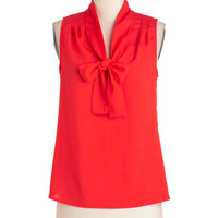 ModCloth Pinup Mid-length Sleeveless Cherry Picking Top