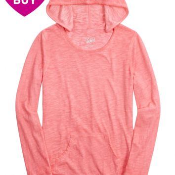BRIGHT LAYERING HOODIE | GIRLS BASIC TEES, TANKS & CAMIS TOPS | SHOP JUSTICE
