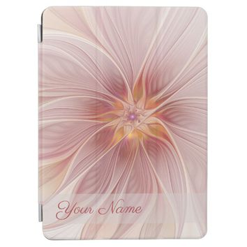 Soft Pink Floral Dream Abstract Modern Flower Name iPad Pro Cover