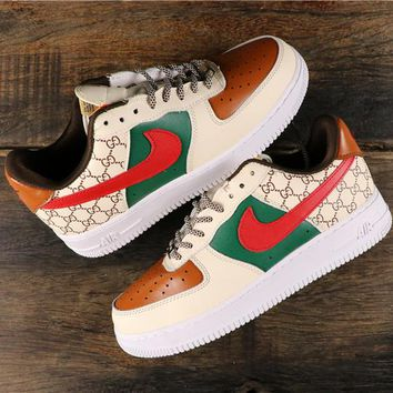 Gucci x Nike Air Force 1 AF1 Low Fashion Sneakers - Best Online Sale