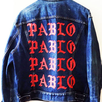 TLOP Paris pop up shop / The Life Of Pablo Vintage Denim Jacket / Pablo Jacket / Yeezus season 3