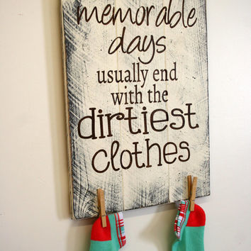 Laundry Room Sign The Most Memorable Days Pallet Sign Shabby Chic Decor Rustic Pallet Sign Wall Art Farmhouse Chic Wall Decor Handpainted