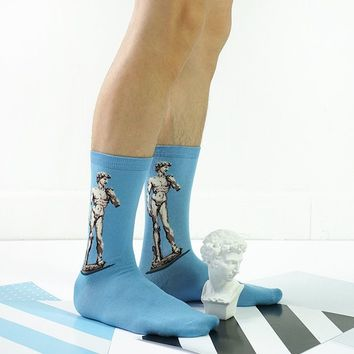 Michelangelo David Statue Socks