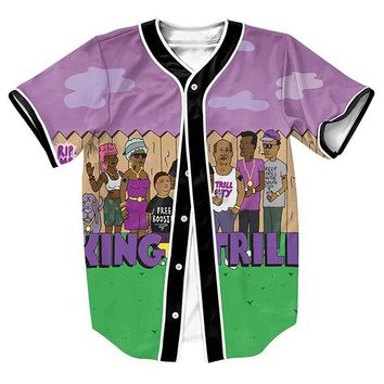 King of the Trill v2 Unisex 3d Baseball Jersey
