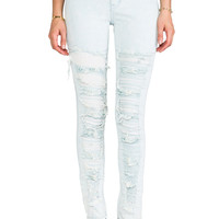 Evil Twin Thrasher High Waisted Jean in Blue Acid