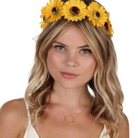 Yellow Little Miss Sunshine Flower Crown