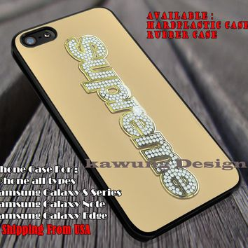 Supreme Bling Box Logo iPhone 6s 6 6s+ 6plus Cases Samsung Galaxy s5 s6 Edge+ NOTE 5 4
