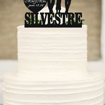 Silhouette Wedding Cake Topper,funny Wedding Cake Topper,Bride and Groom little boys family wedding cake topper,unique wedding cake topper