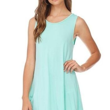 Sharkbite Tank Tunic in Mint