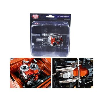 Hemi Bullet Hemi 426 Engine Headers and Transmission Replica 1:18 by Acme
