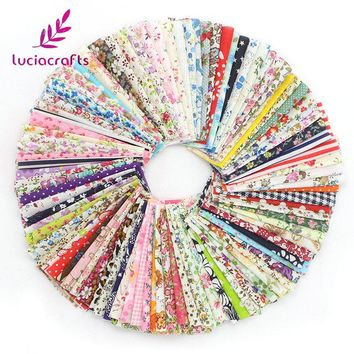 Lucia Crafts Random mixed Cotton Fabric Floral Series Patchwork Tissue DIY Quilting Sewing Fabric Handmade Materials 026029097