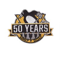 2017 NHL Pittsburgh penguins 50th anniversary of the official hockey competition, clothing patch cloth ironing and embroidery ap