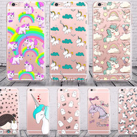 Clear Unicorn iPhone Cases