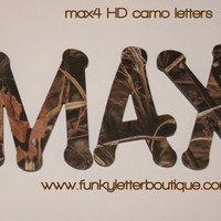 Max 4 HD Advantage Camo Wall Letters