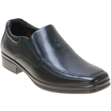 Hush Puppies Quatro Slip On Black Casual Shoes