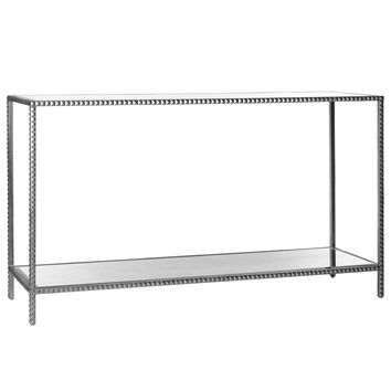Emporium Home Stud Silver Console Table