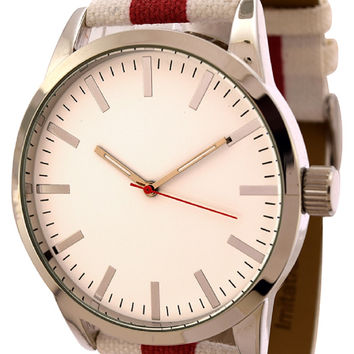 FMD  by Fossil White Canvas Band Watch