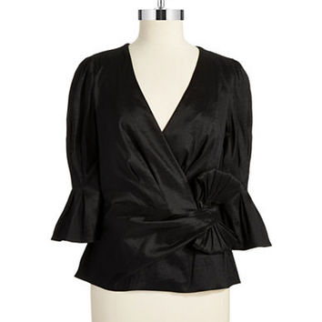 Chetta B Mock Wrap Bow Top
